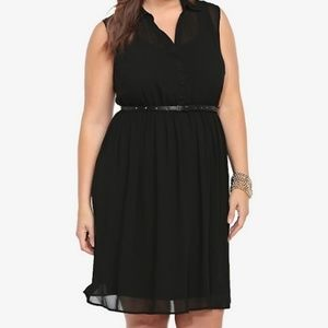 Torrid Black Sleeveless Button Up Shirt Dress Sz 2